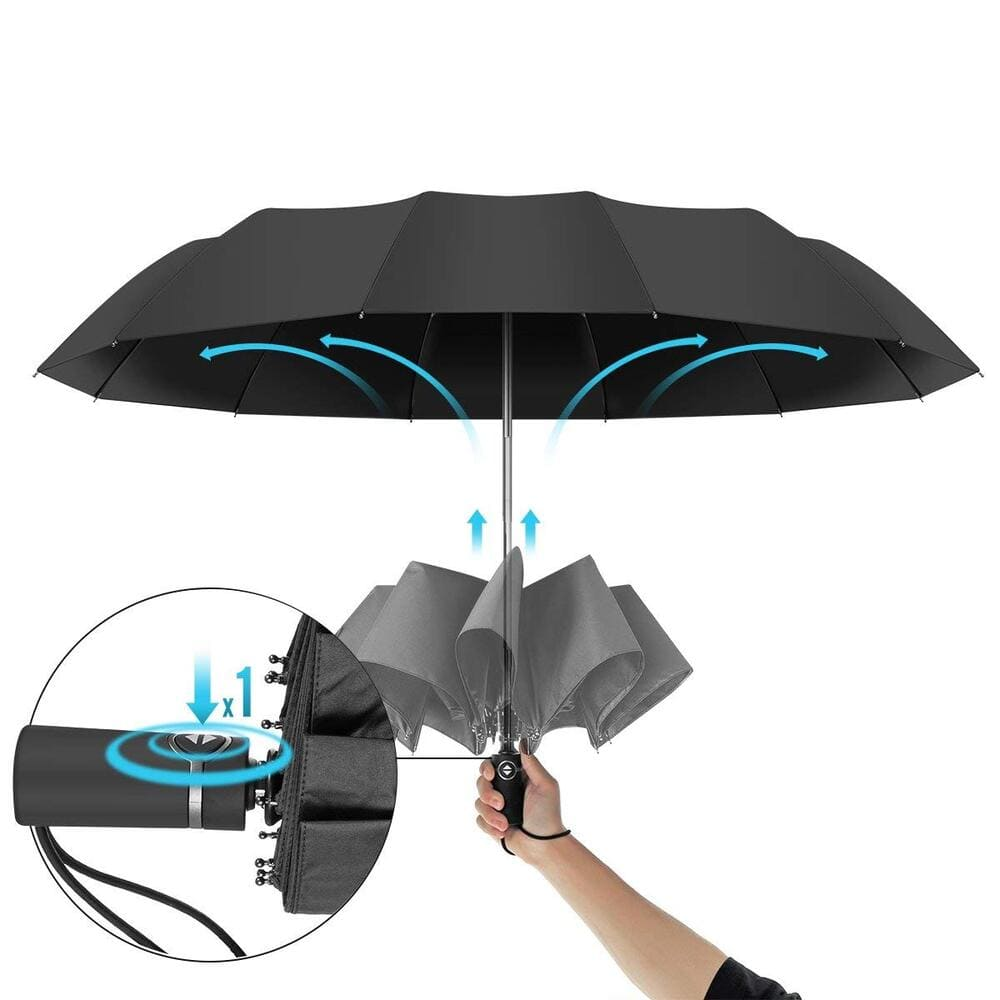 Автоматичен чадър за дъжд Royal Walk отваряне и затваряне