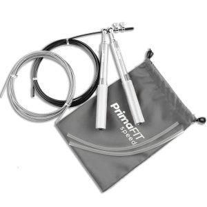 Скоростно въже за скачане - професионално боксьорско въже за скачане сиво