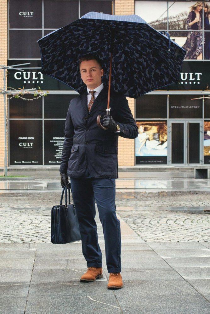 мъжки чадър за дъжд луксозен
