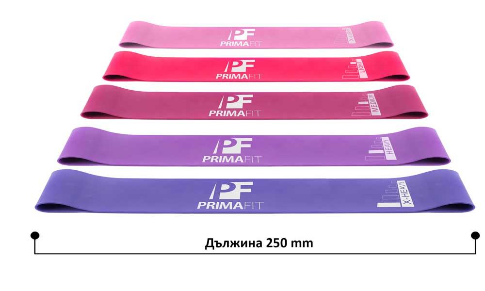 Ластици за фитнес PrimaFIT дължина на комплект фитнес ластици 1