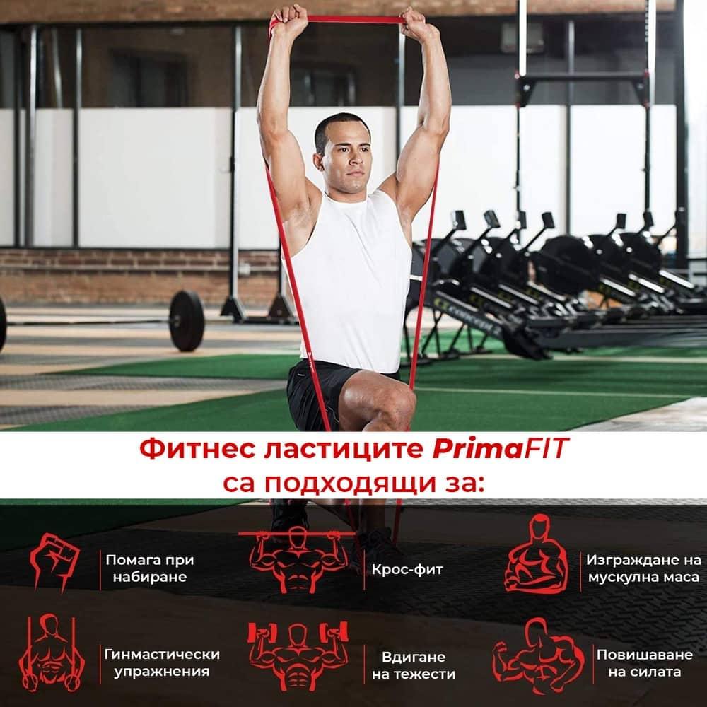 Фитнес Ластици PrimaFIT упражнения с ластици за фитнеса