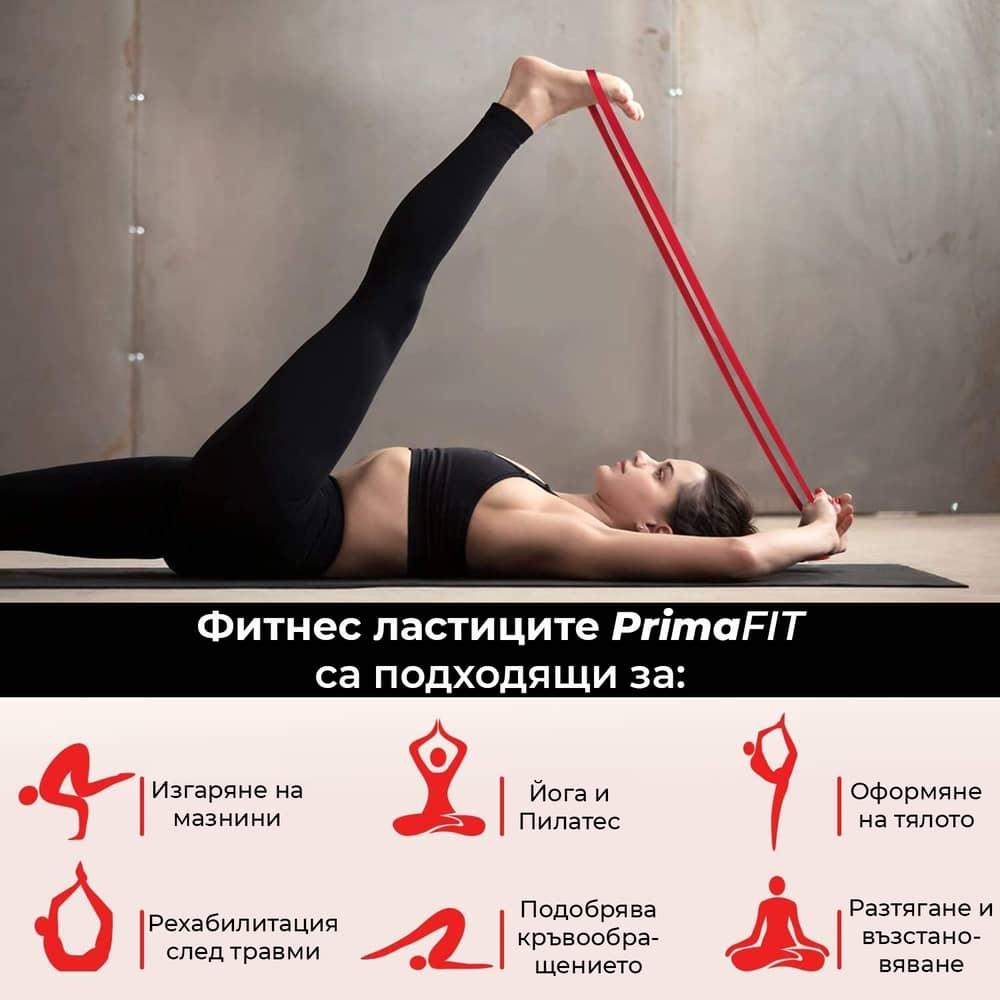 Фитнес Ластици PrimaFIT упражнения и тренировки с ластици за фитнес