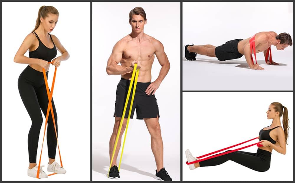 Ластици за фитнес PrimaFIT упражнения с фитнес ластици
