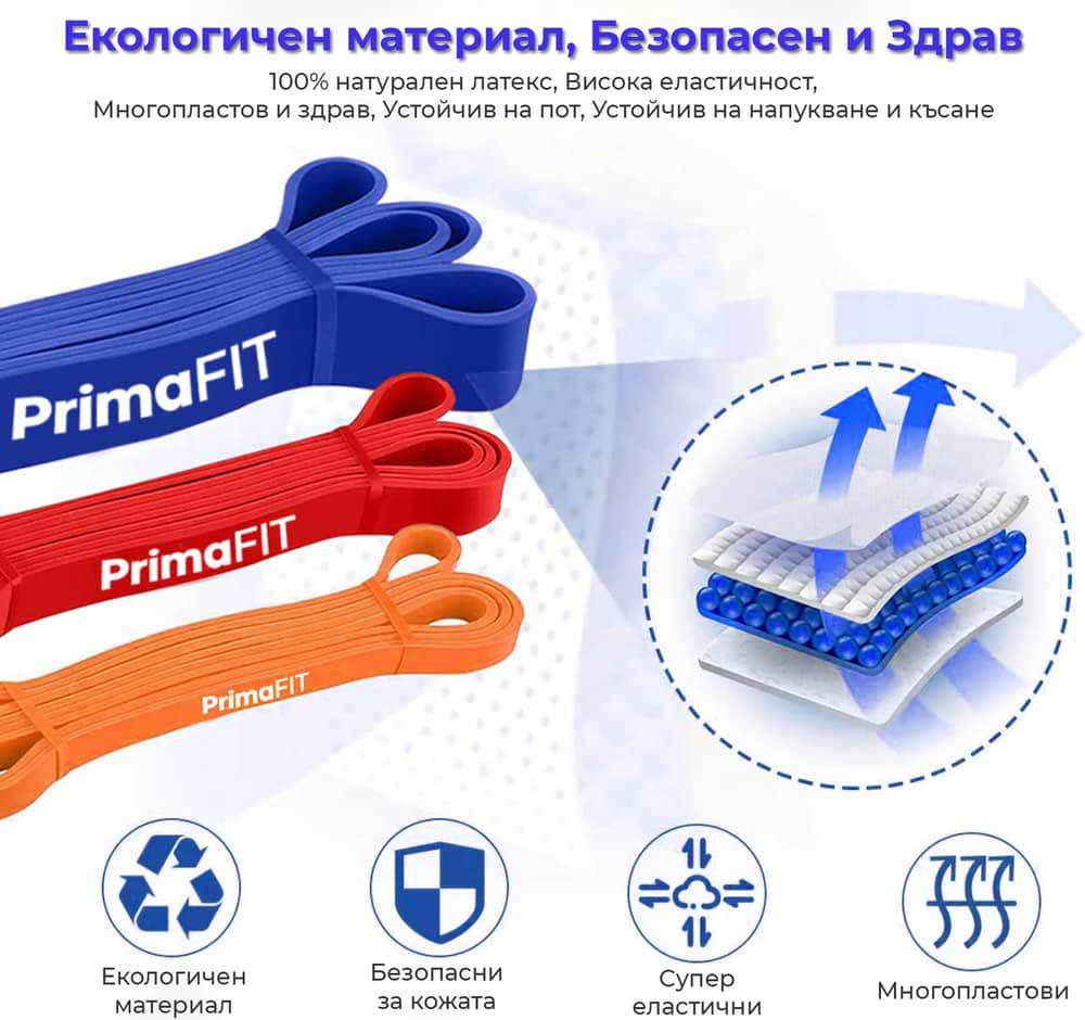 Ластици за фитнес PrimaFIT от естествен латекс