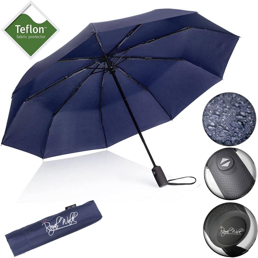 Автоматичен мъжки чадър за дъжд Royal Walk отваряне и затваряне