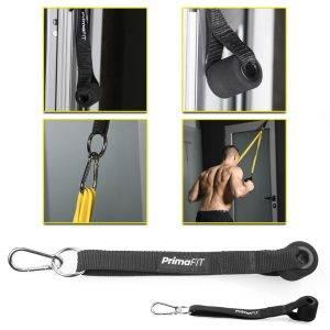 Фиксиращ анкер за врата за фитнес ластици за тренировка PrimaFIT с карабинер 8